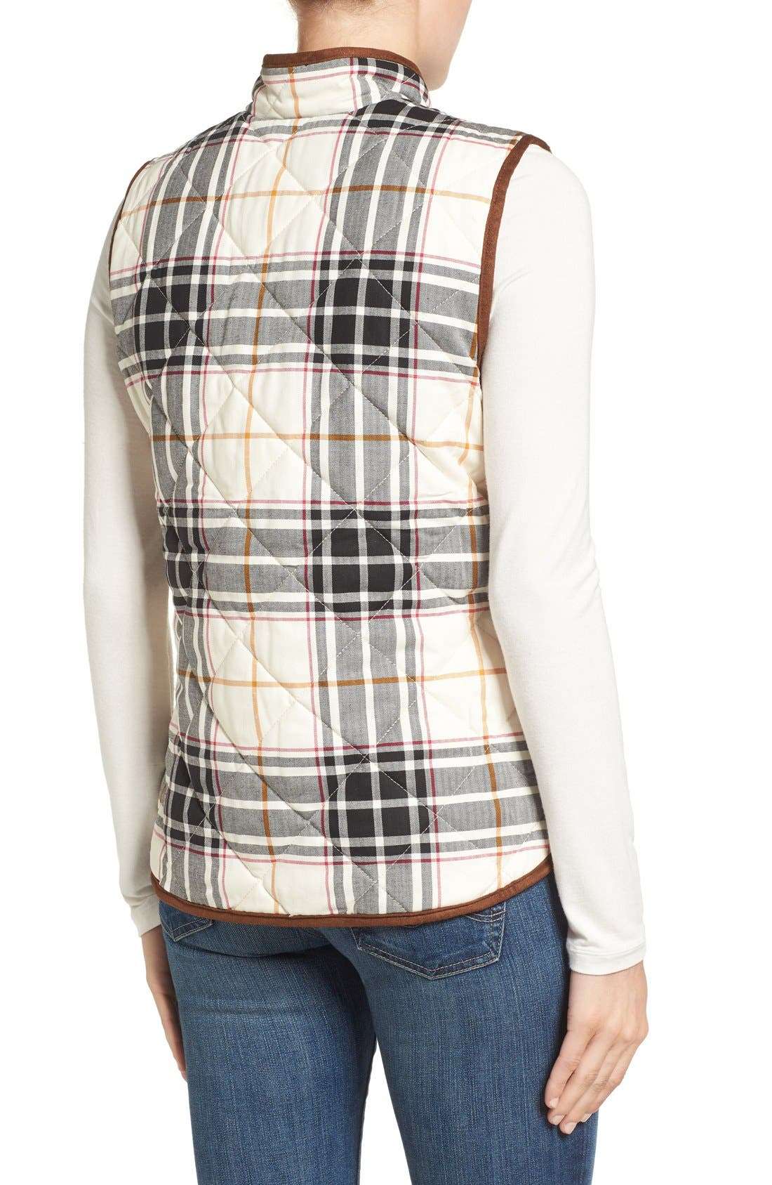 Alternate Image 2  - Foxcroft Plaid Quilt Vest
