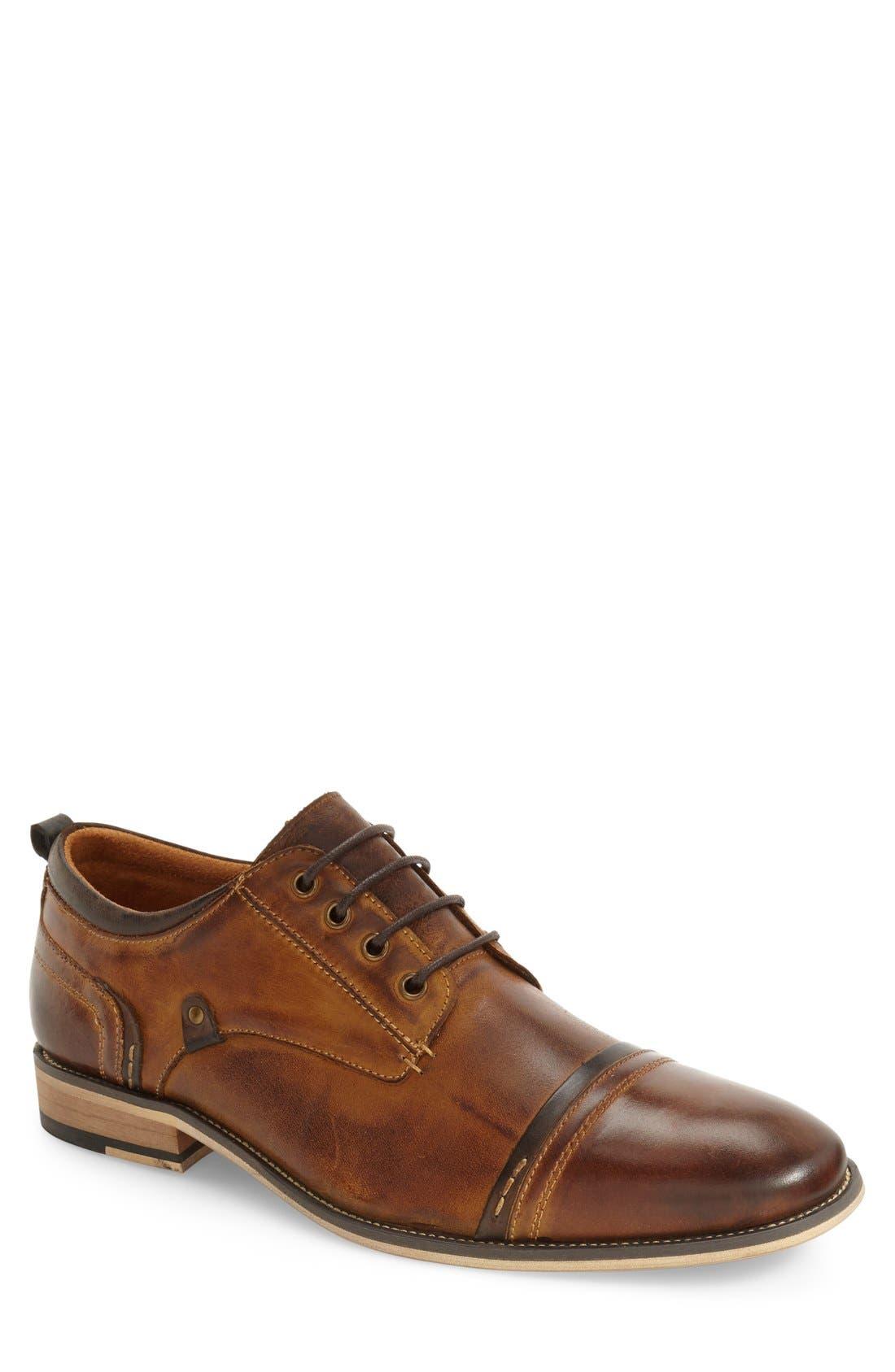 Jamyson Cap Toe Derby,                         Main,                         color, Tan Leather