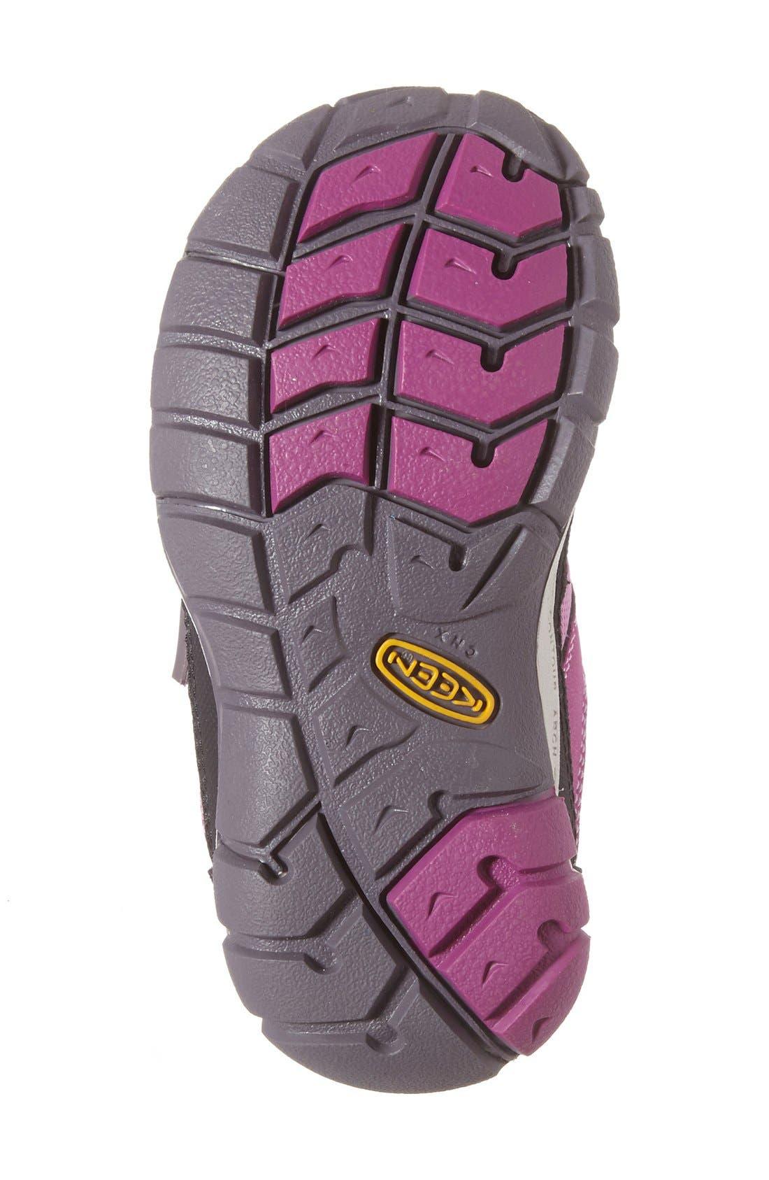 Peek-a-Shoe Sneaker,                             Alternate thumbnail 4, color,                             Purple Wine