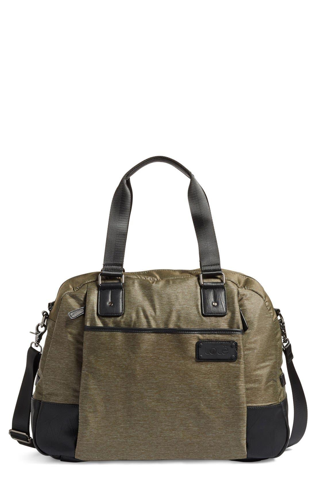 Deena Duffel Bag,                         Main,                         color, Khaki Heather