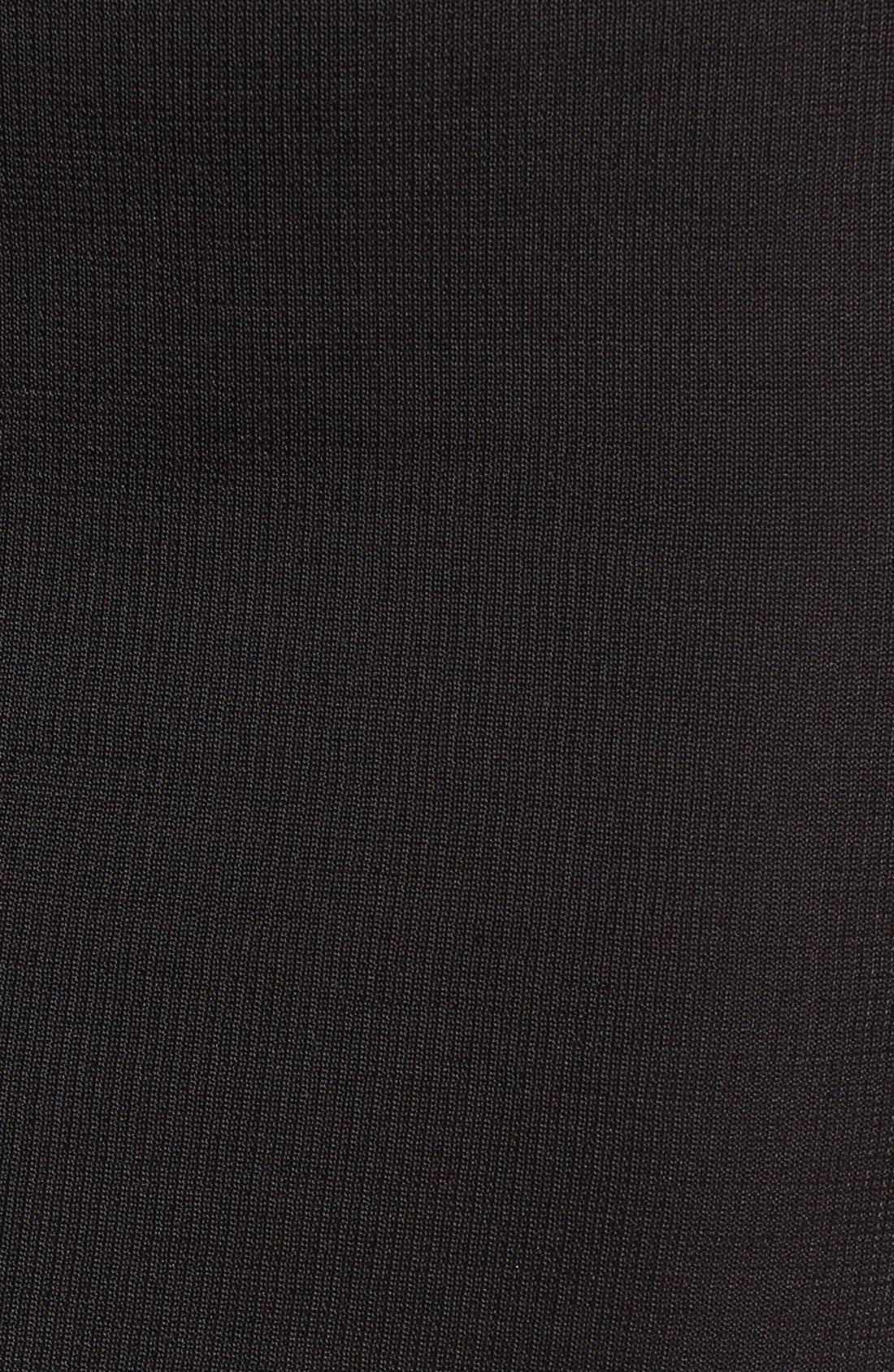 Ribbed Skirt,                             Alternate thumbnail 6, color,                             Black