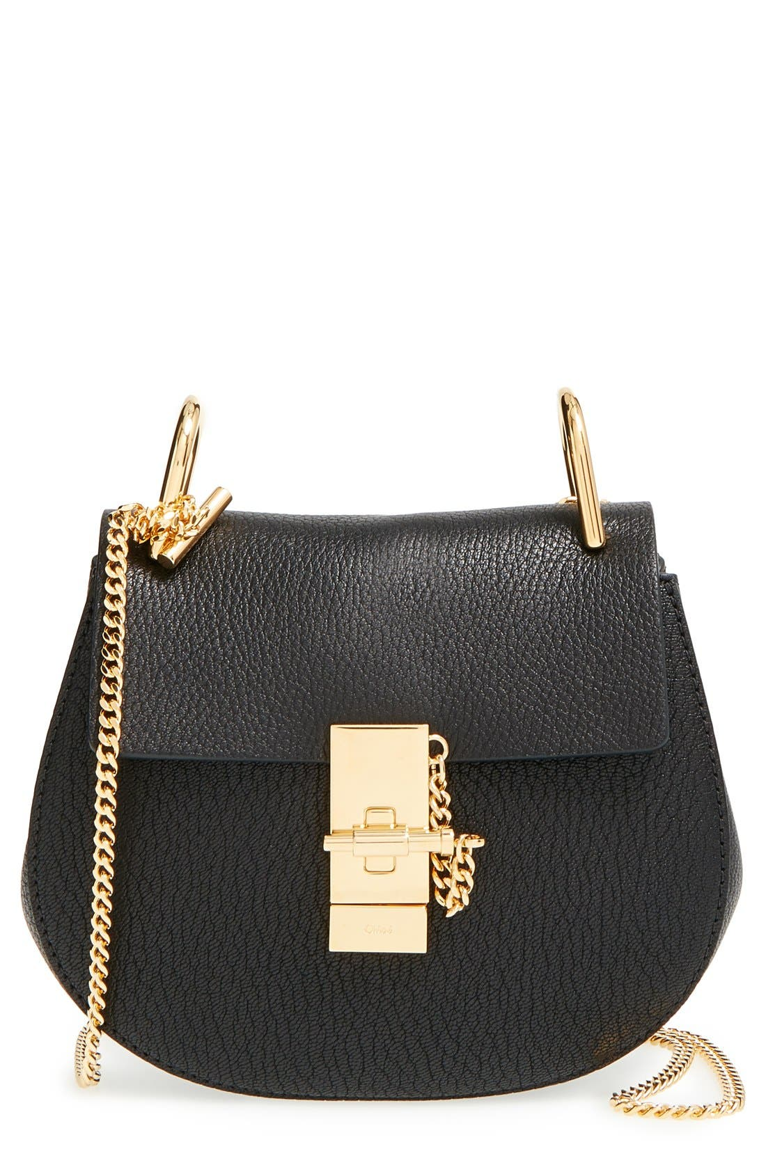 Main Image - Chloé 'Mini Drew' Leather Shoulder Bag