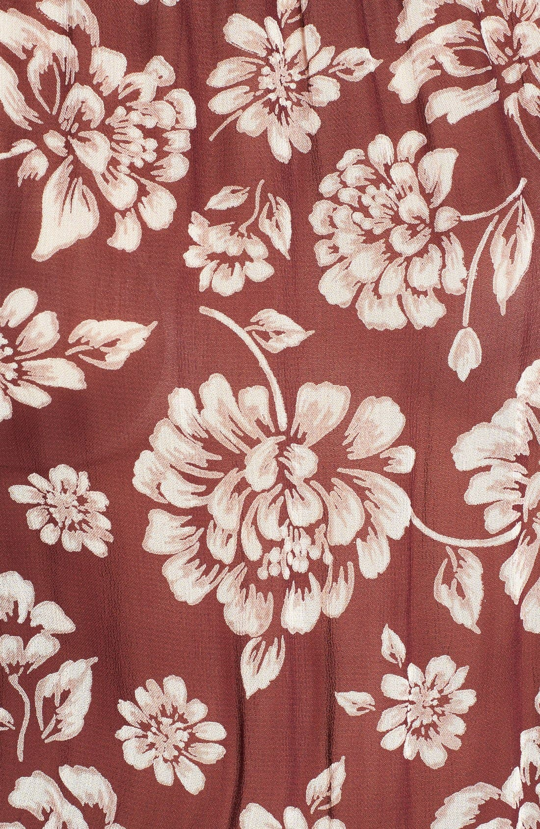 Alternate Image 5  - Band of Gypsies Floral Print Chiffon Jumpsuit