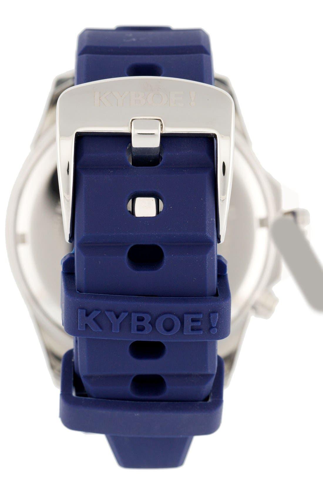Alternate Image 2  - KYBOE! Power Silicone Strap Watch, 48mm