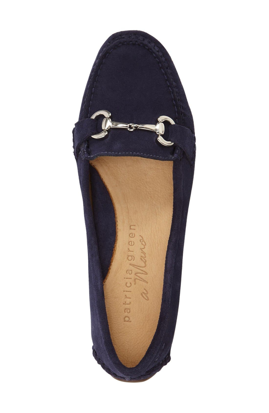 'Carrie' Loafer,                             Alternate thumbnail 3, color,                             Navy Suede