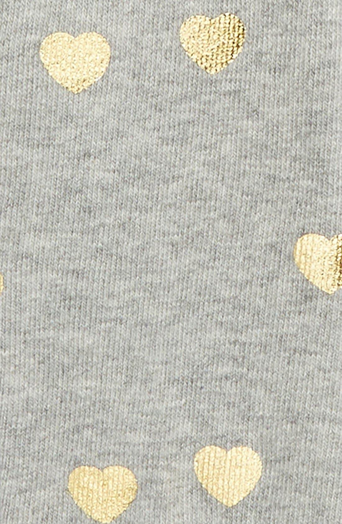 Metallic Heart Tights,                             Alternate thumbnail 2, color,                             Grey