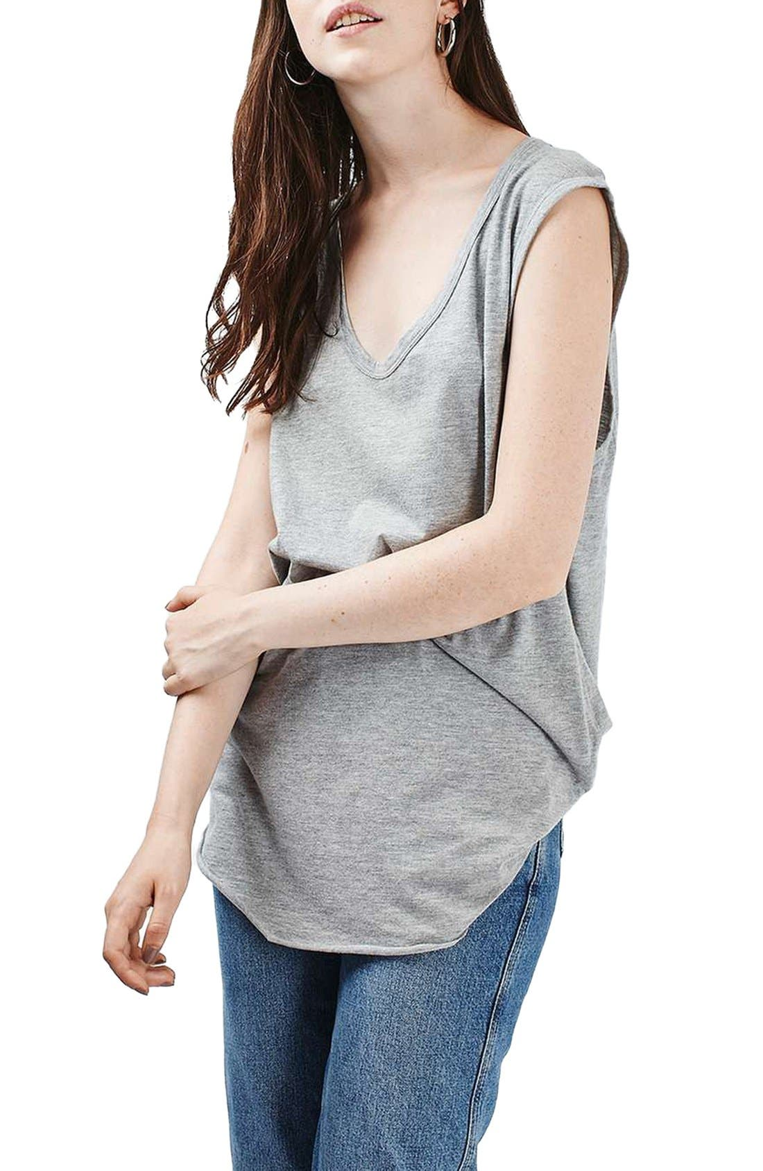 Alternate Image 1 Selected - Topshop Slouchy U-Neck Tank
