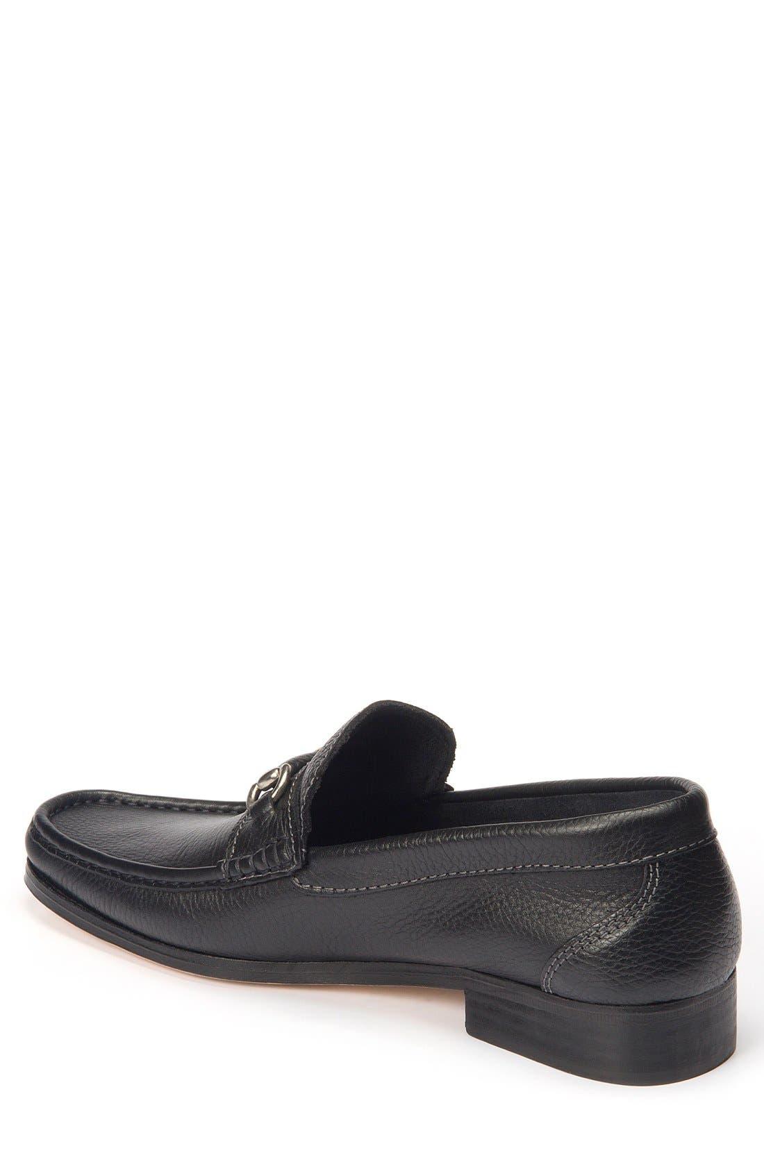 Garda Bit Loafer,                             Alternate thumbnail 2, color,                             Black Leather