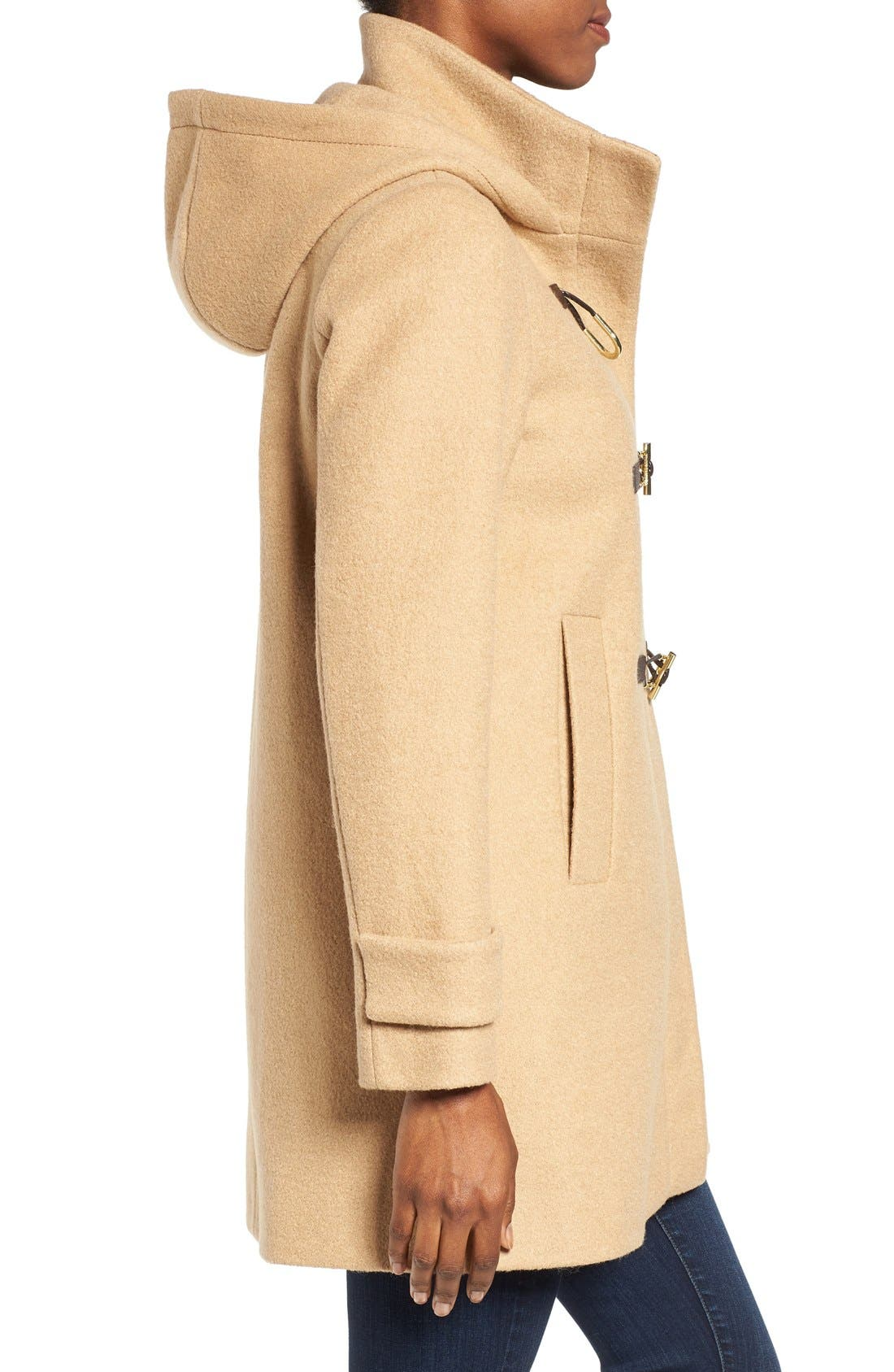 Alternate Image 3  - Vince Camuto Boiled Wool Blend Duffle Coat