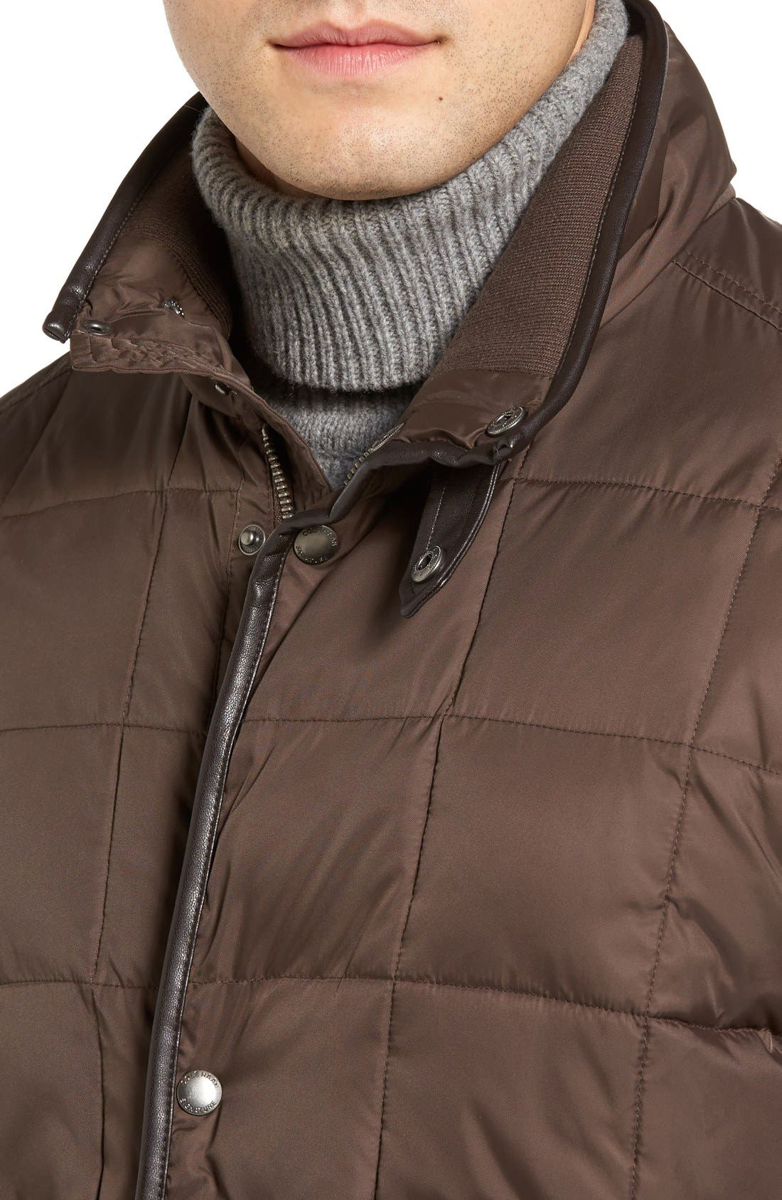 Box Quilted Jacket,                             Alternate thumbnail 4, color,                             Wren