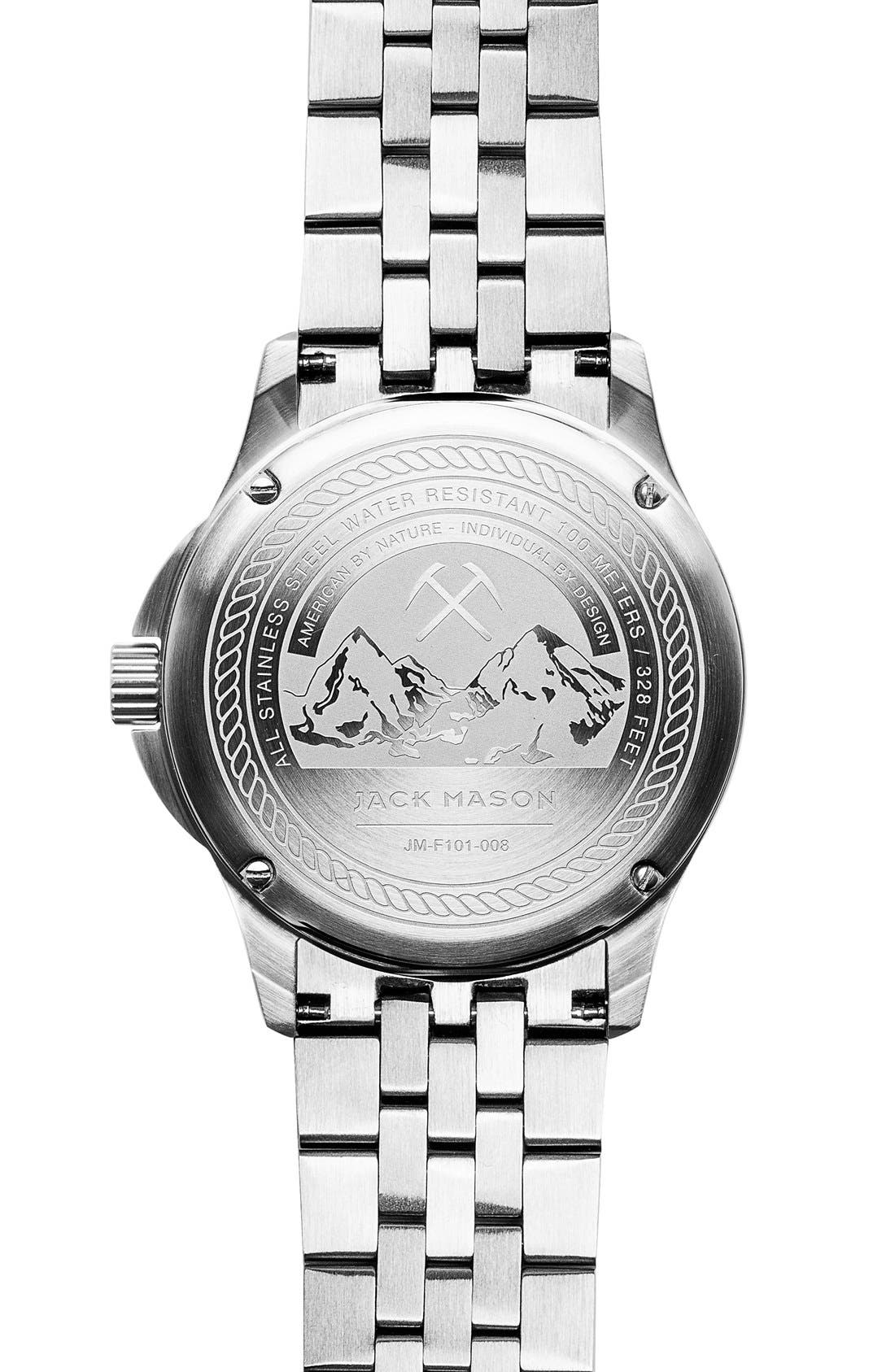 Alternate Image 2  - Jack Mason Field Bracelet Watch, 42mm