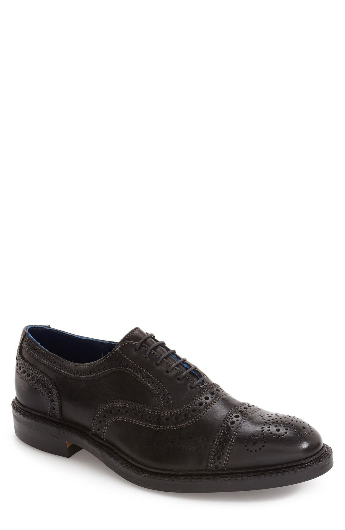 'Strandmok' Cap Toe Oxford,                             Main thumbnail 1, color,                             Black