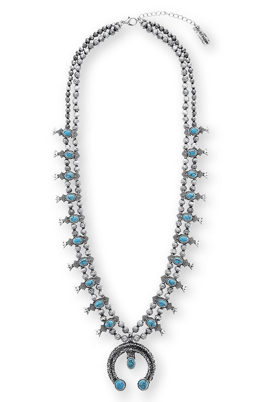 Alternate Image 1 Selected - Steve Madden Squash Blossom Pendant Necklace