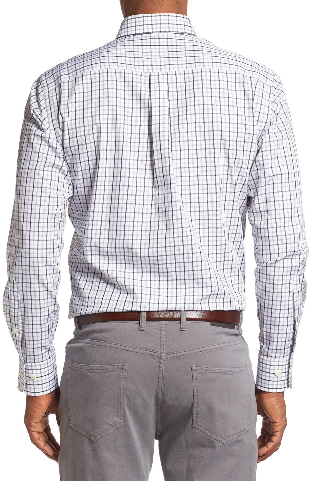Alternate Image 2  - Peter Millar Regular Fit Tattersall Plaid Sport Shirt