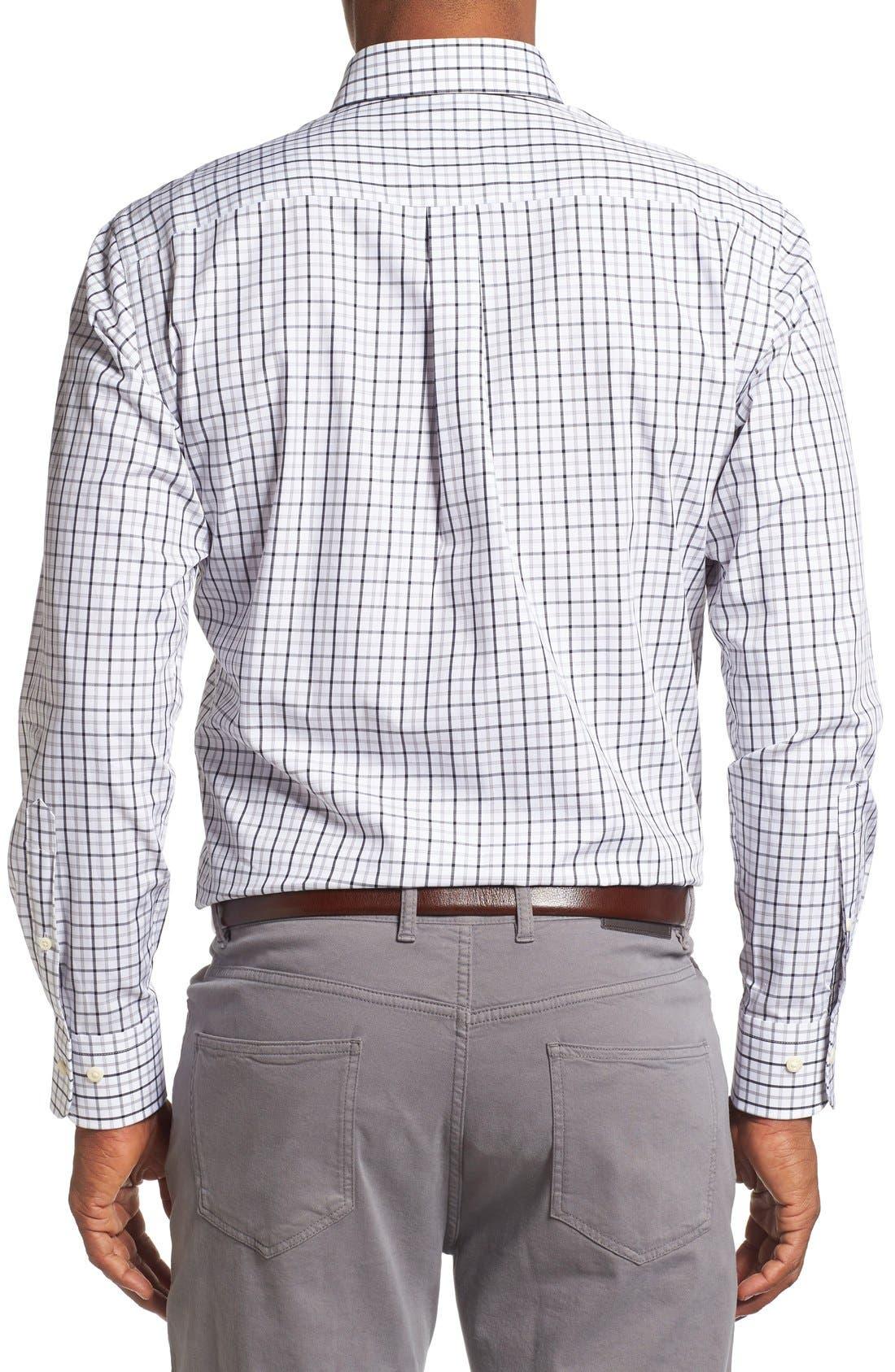 Regular Fit Tattersall Plaid Sport Shirt,                             Alternate thumbnail 2, color,                             Black