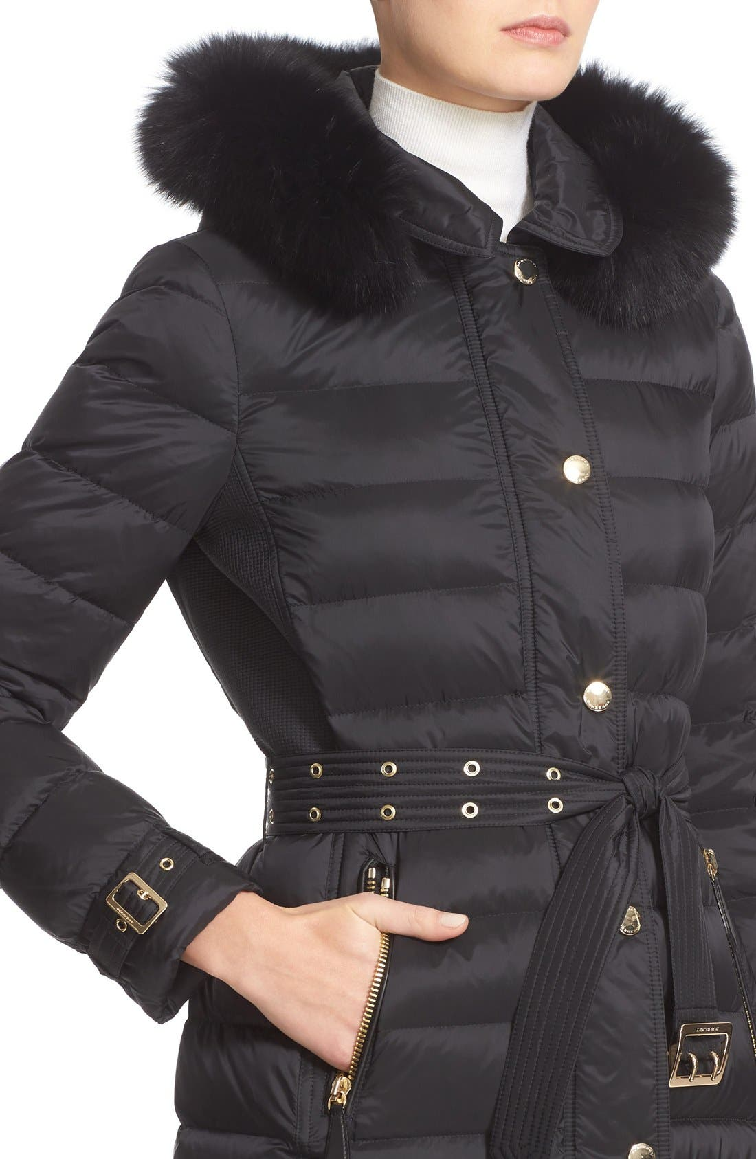 Alternate Image 6  - Burberry Ashmoore Down Puffer with Genuine Fox Fur Trim