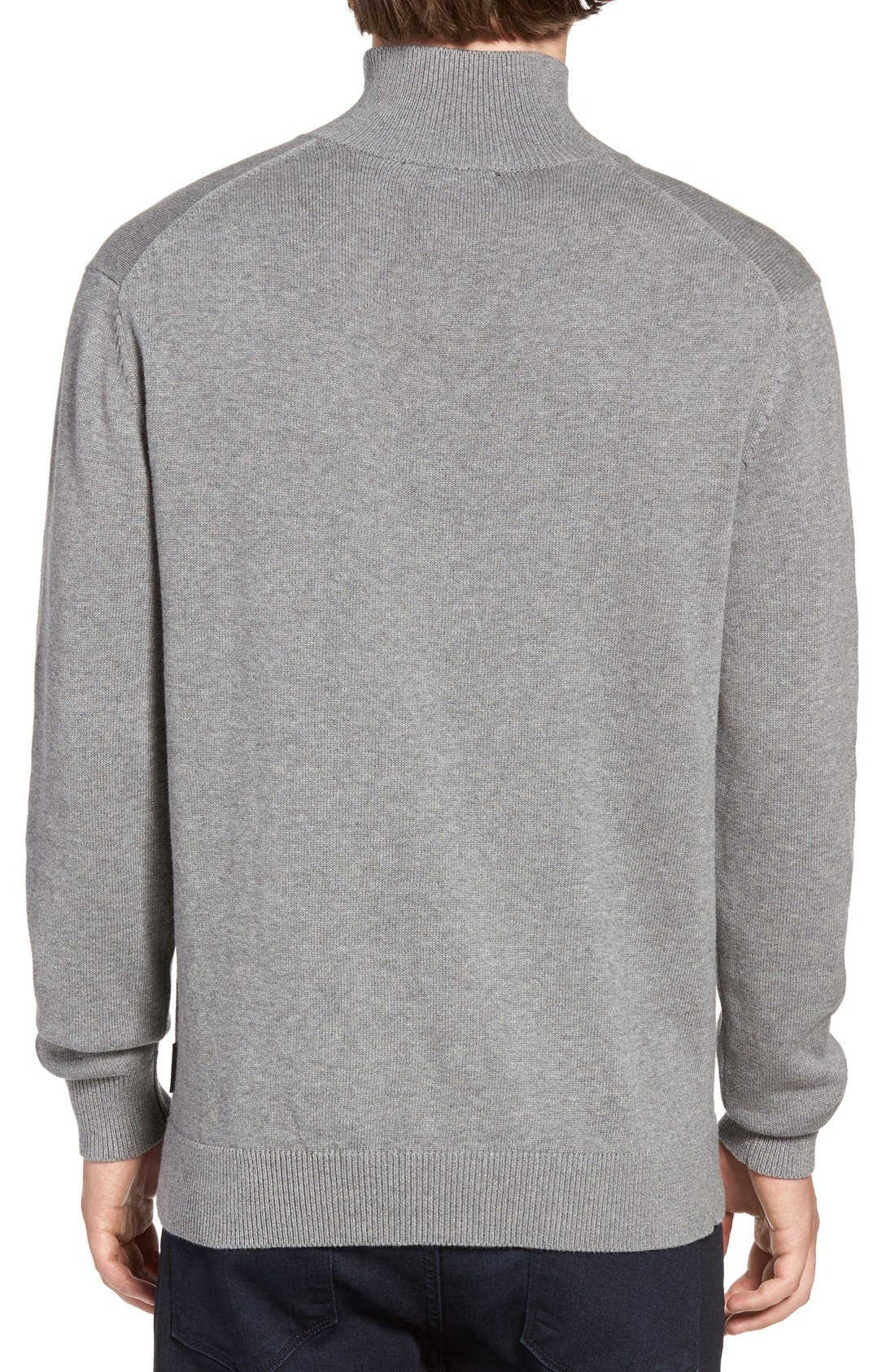 Alternate Image 2  - French Connection Quarter Zip Sweater