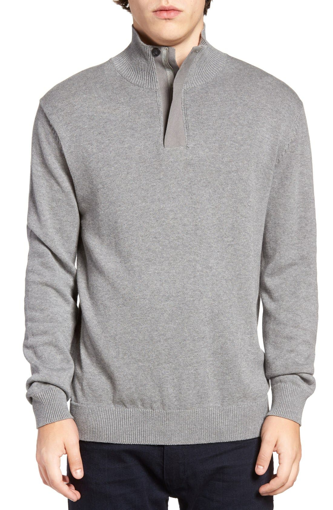 Main Image - French Connection Quarter Zip Sweater