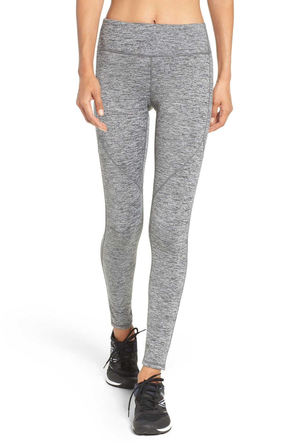 Alternate Image 1 Selected - Zella Heat It Up Reflective Running Leggings