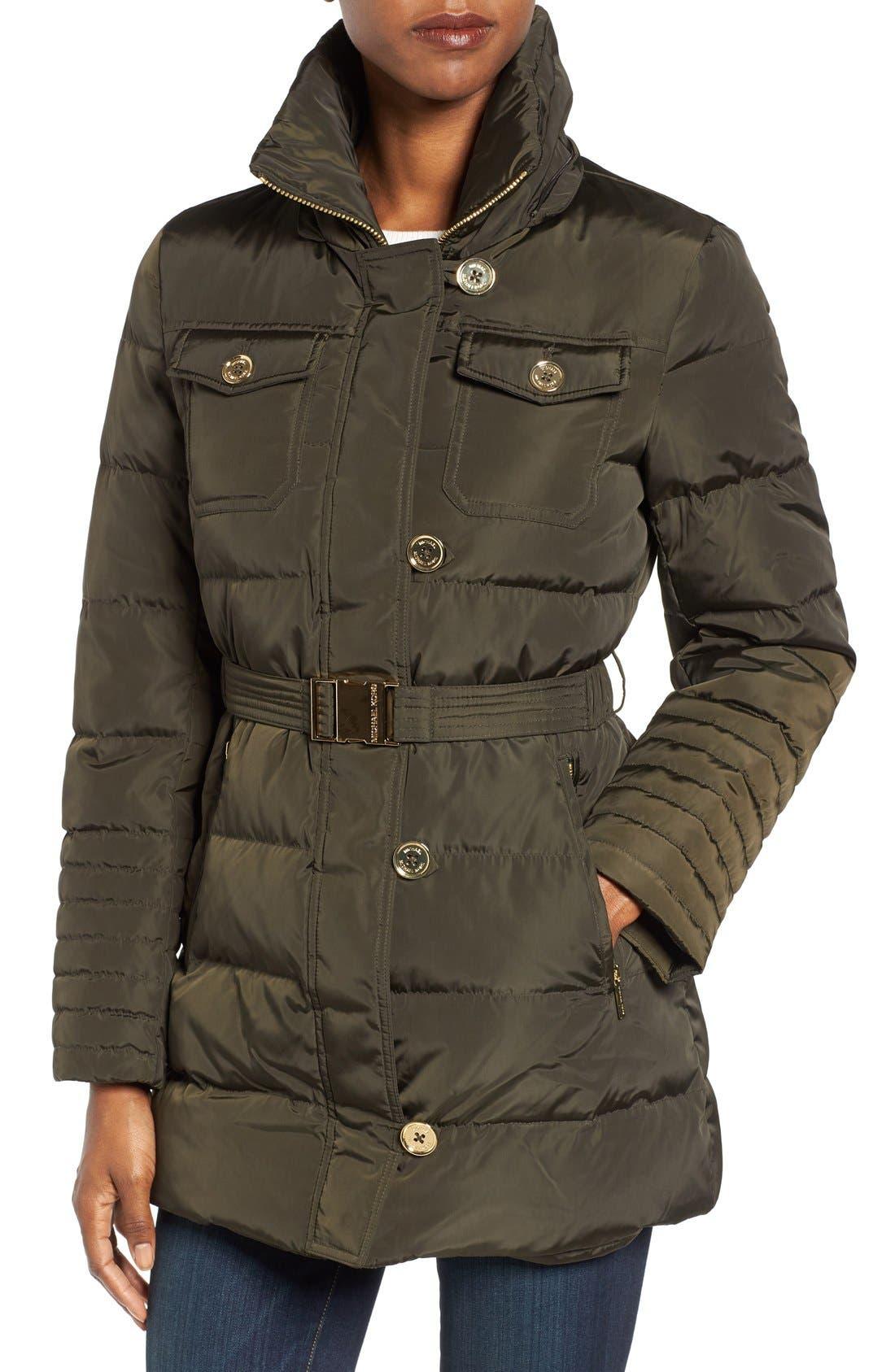 Alternate Image 4  - MICHAEL Michael Kors Faux Fur Trim Belted Down & Feather Fill Coat