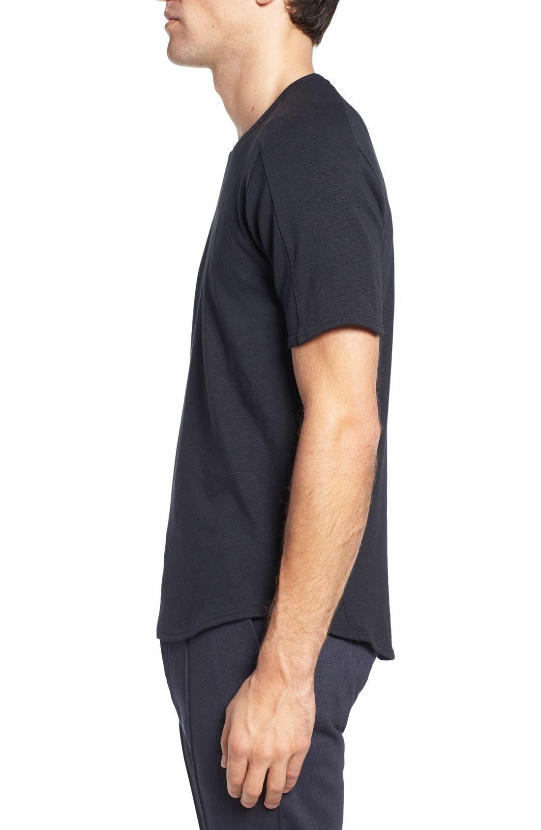 Douglas Cotton Blend T-Shirt,                             Alternate thumbnail 3, color,                             Black