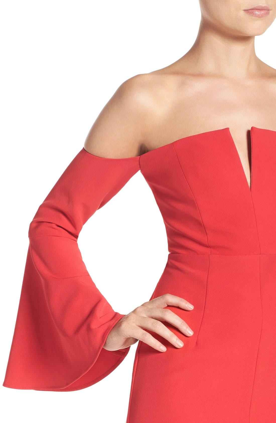 Alternate Image 5  - Bardot Jasmine Off the Shoulder Sheath Dress