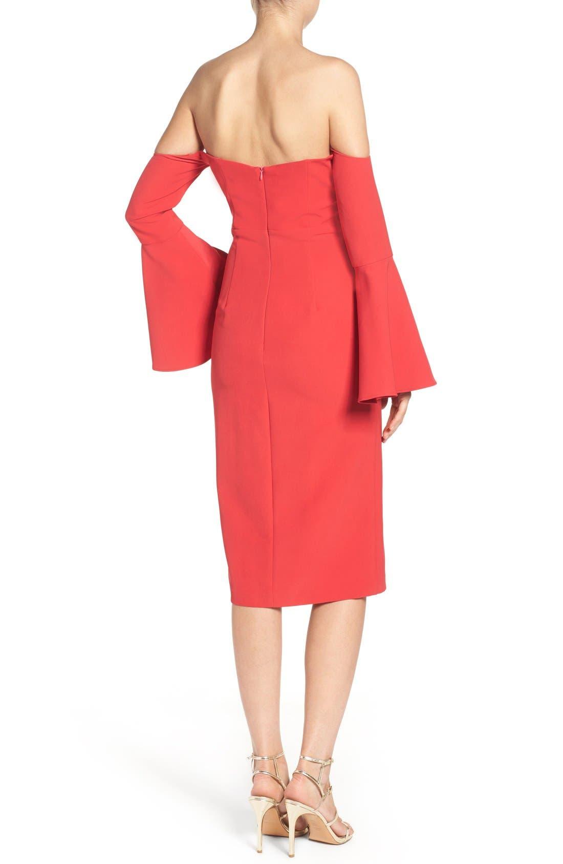 Alternate Image 2  - Bardot Jasmine Off the Shoulder Sheath Dress