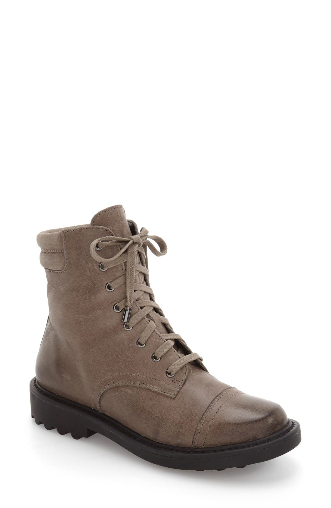 Shayne Bootie,                         Main,                         color, Grey Oiled Leather