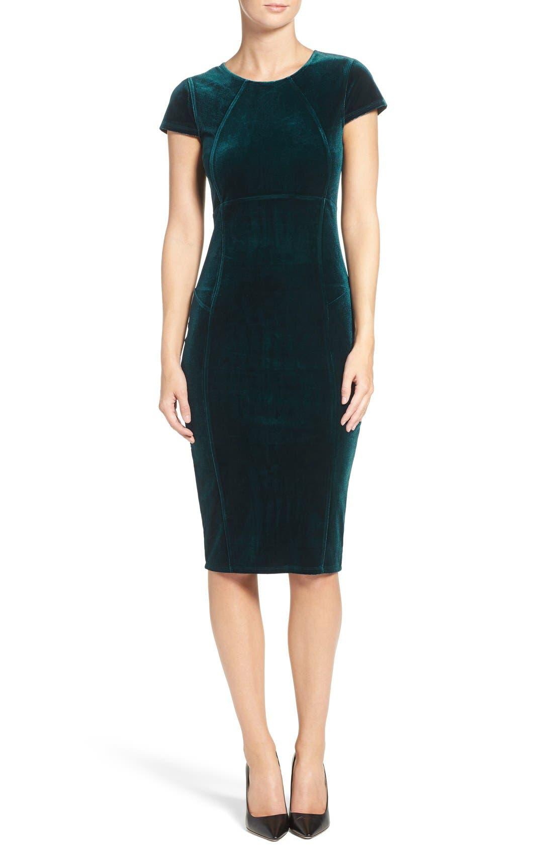 Main Image - Felicity & Coco Velvet Midi Dress (Nordstrom Exclusive)