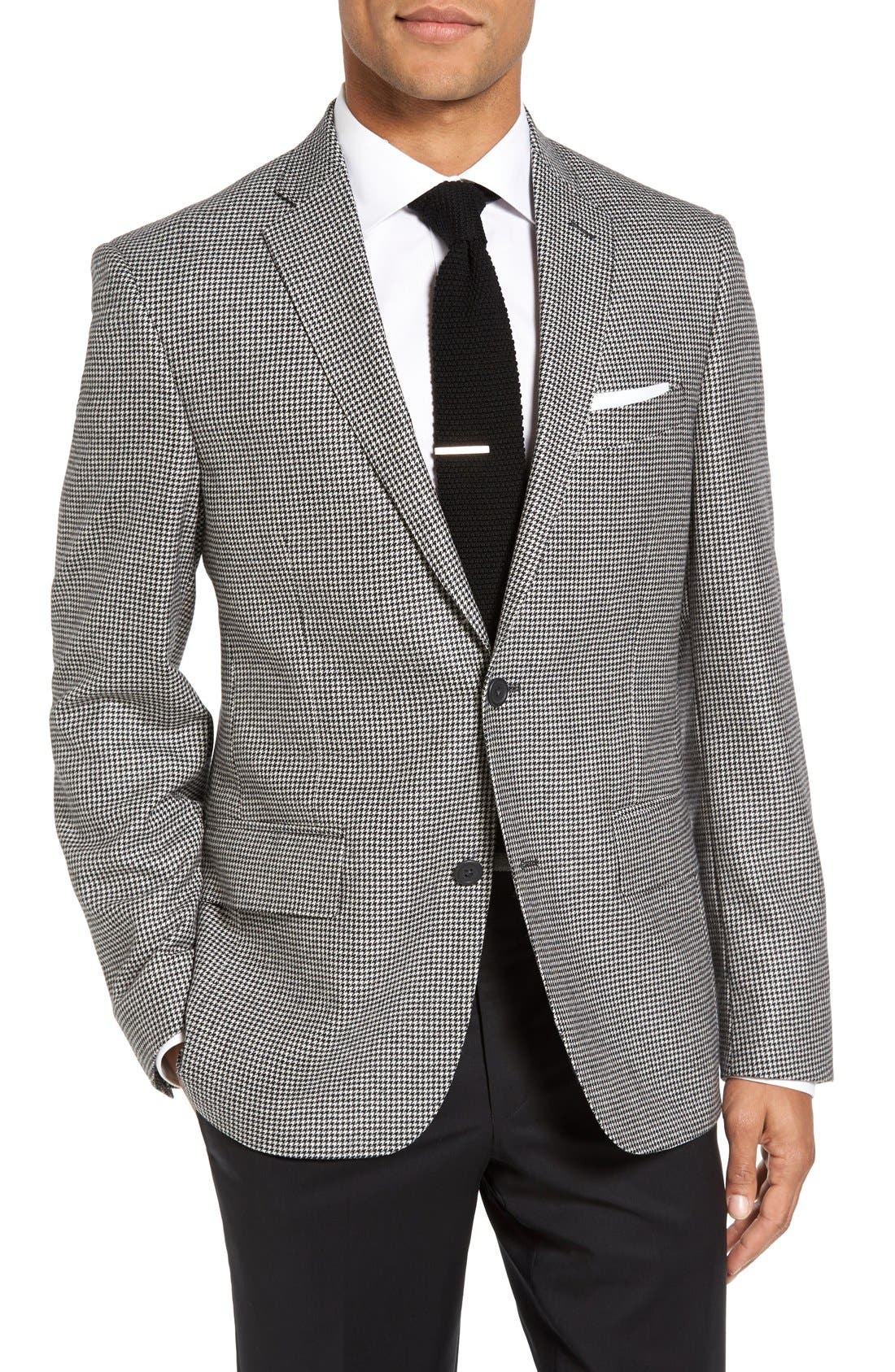 Main Image - Nordstrom Men's Shop Classic Fit Houndstooth Wool & Cashmere Sport Coat