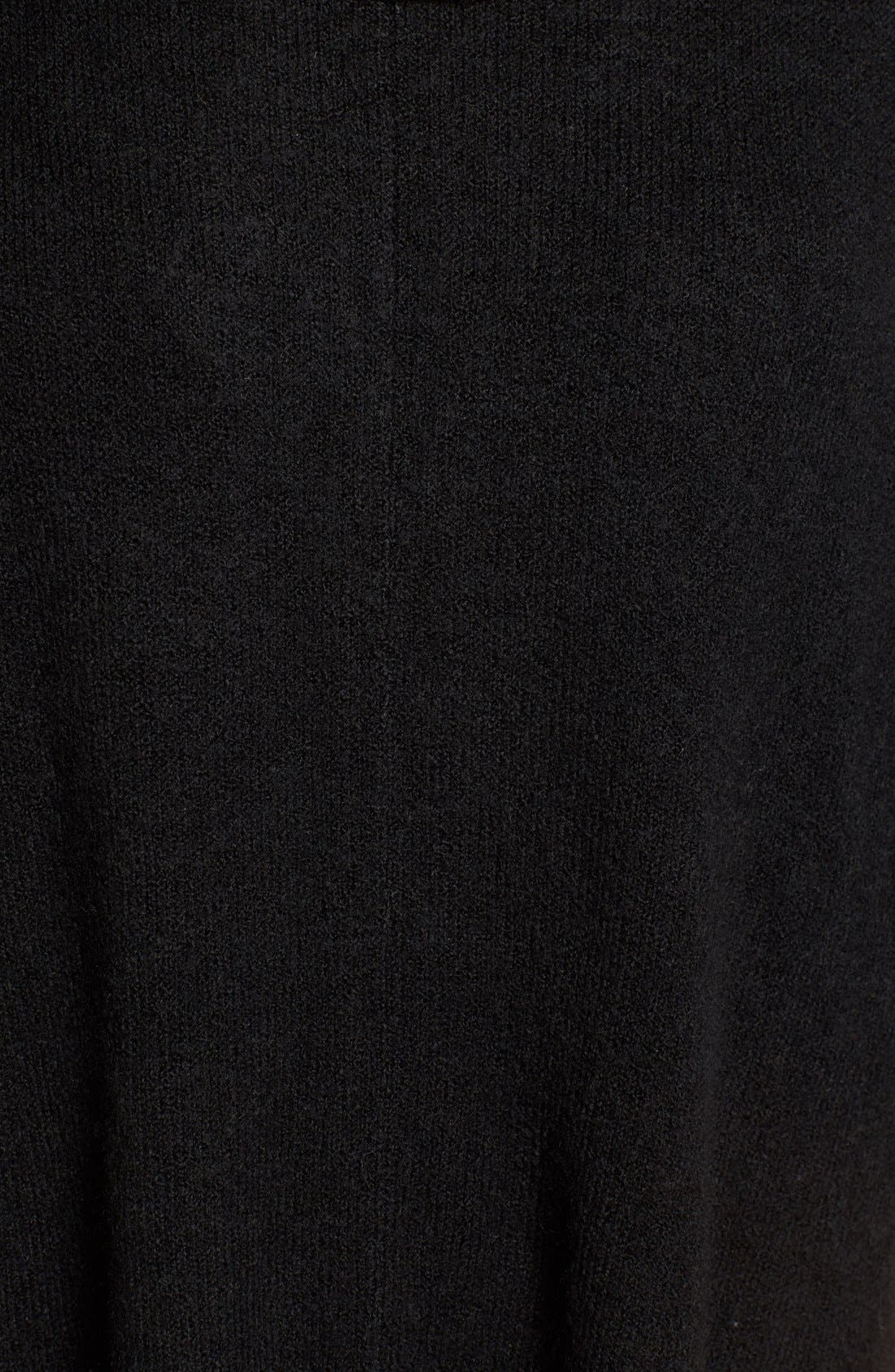 Cowl Neck Sweater Poncho,                             Alternate thumbnail 5, color,                             Black