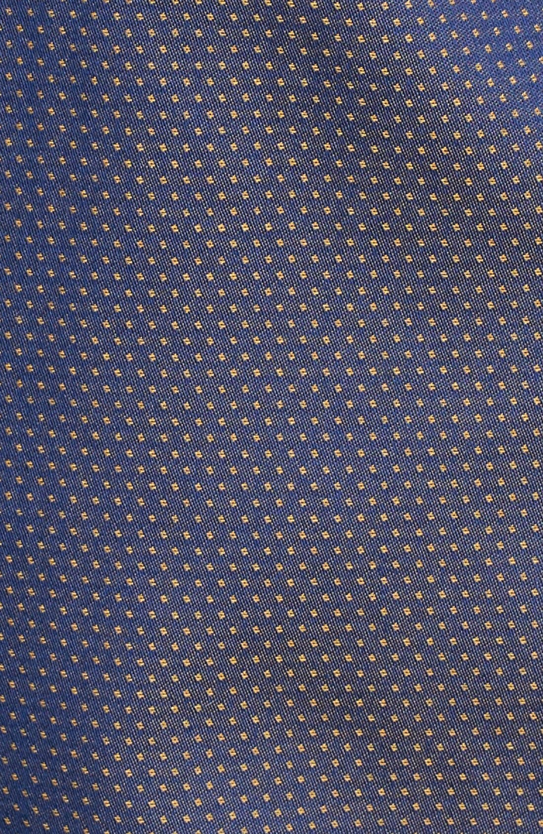 Slim Fit Print Sport Shirt,                             Alternate thumbnail 5, color,                             Navy/ Gold Pindot Dobby