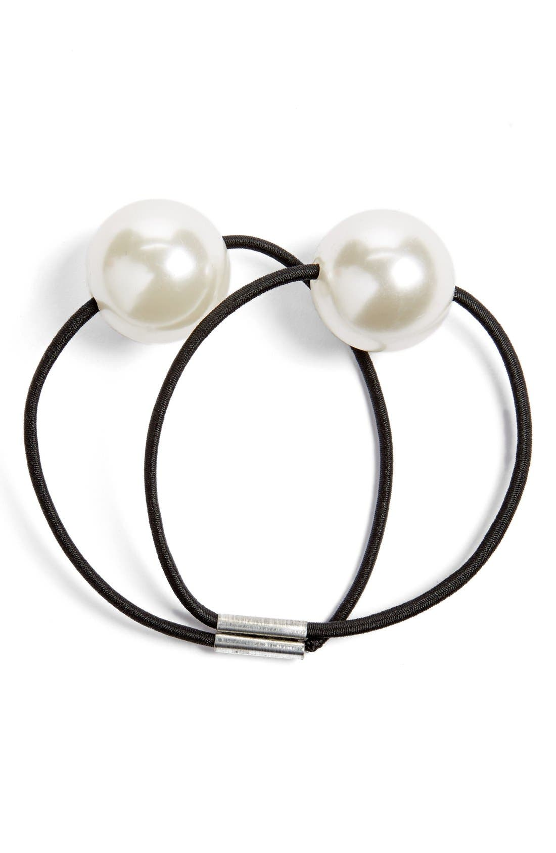 Main Image - Tasha Pearly Bead Double Ponytail Holder