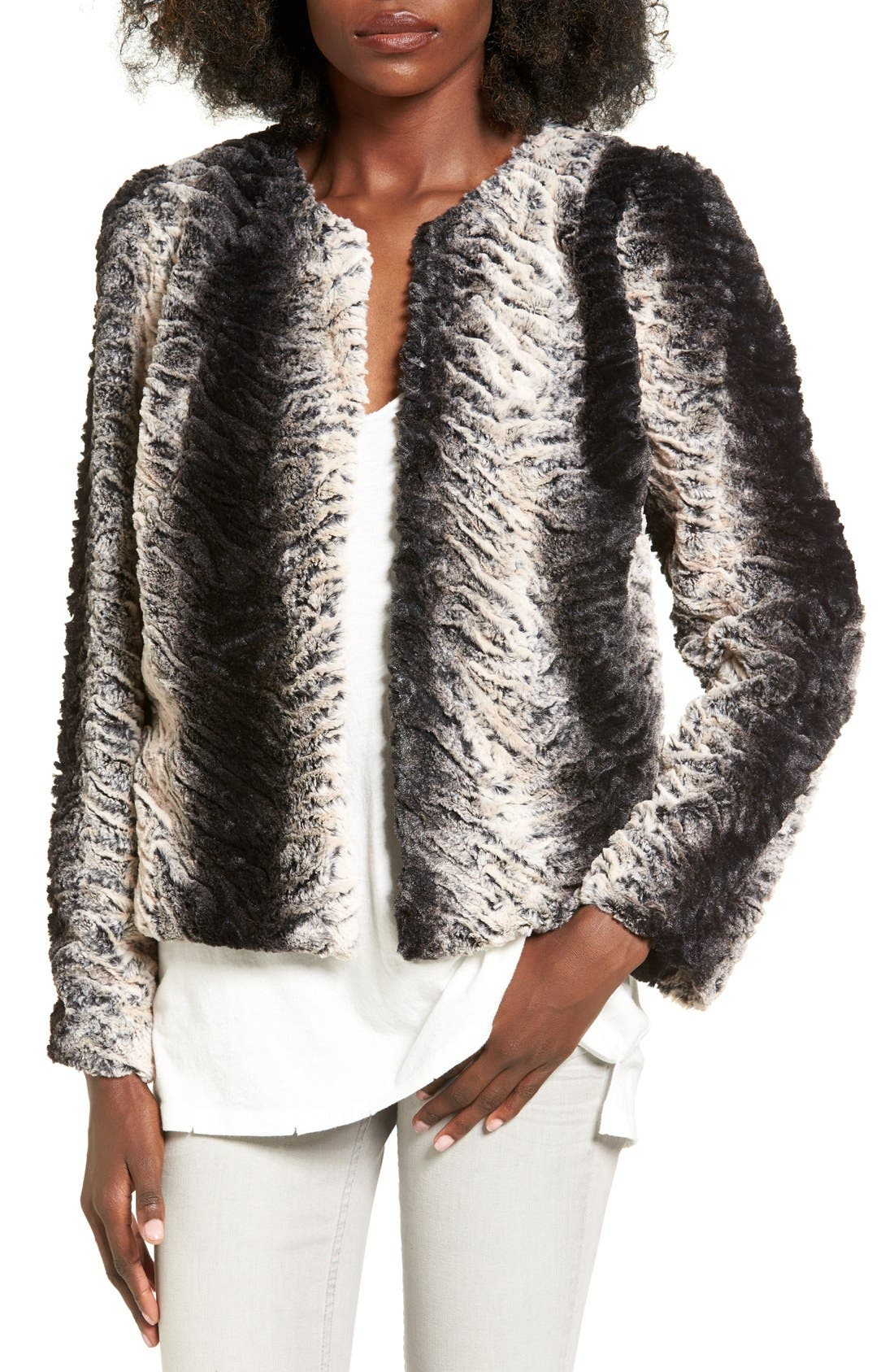 Alternate Image 1 Selected - Band of Gypsies Faux Fur Jacket