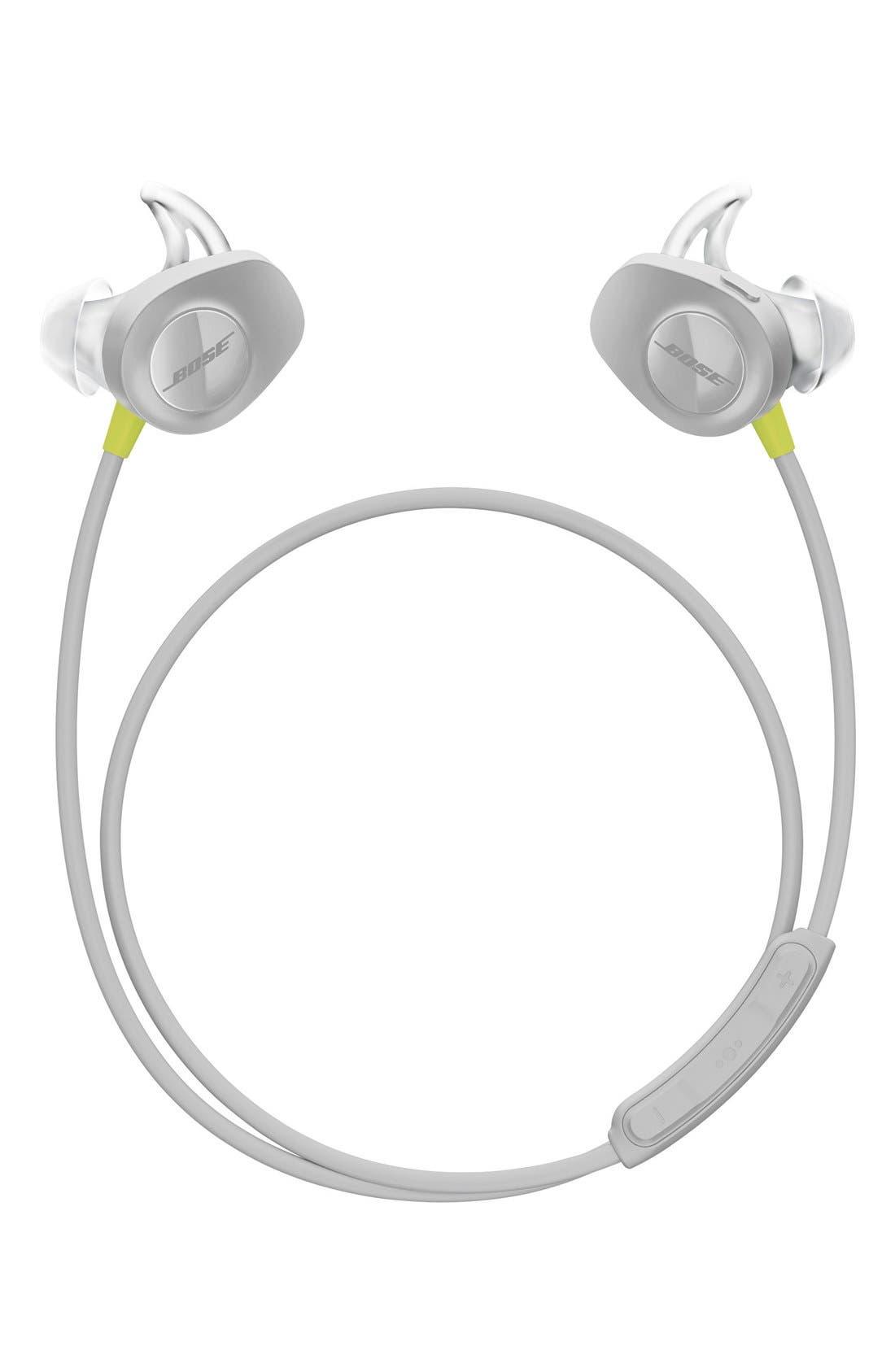SoundSport<sup>®</sup> Wireless Headphones,                             Main thumbnail 1, color,                             Citron