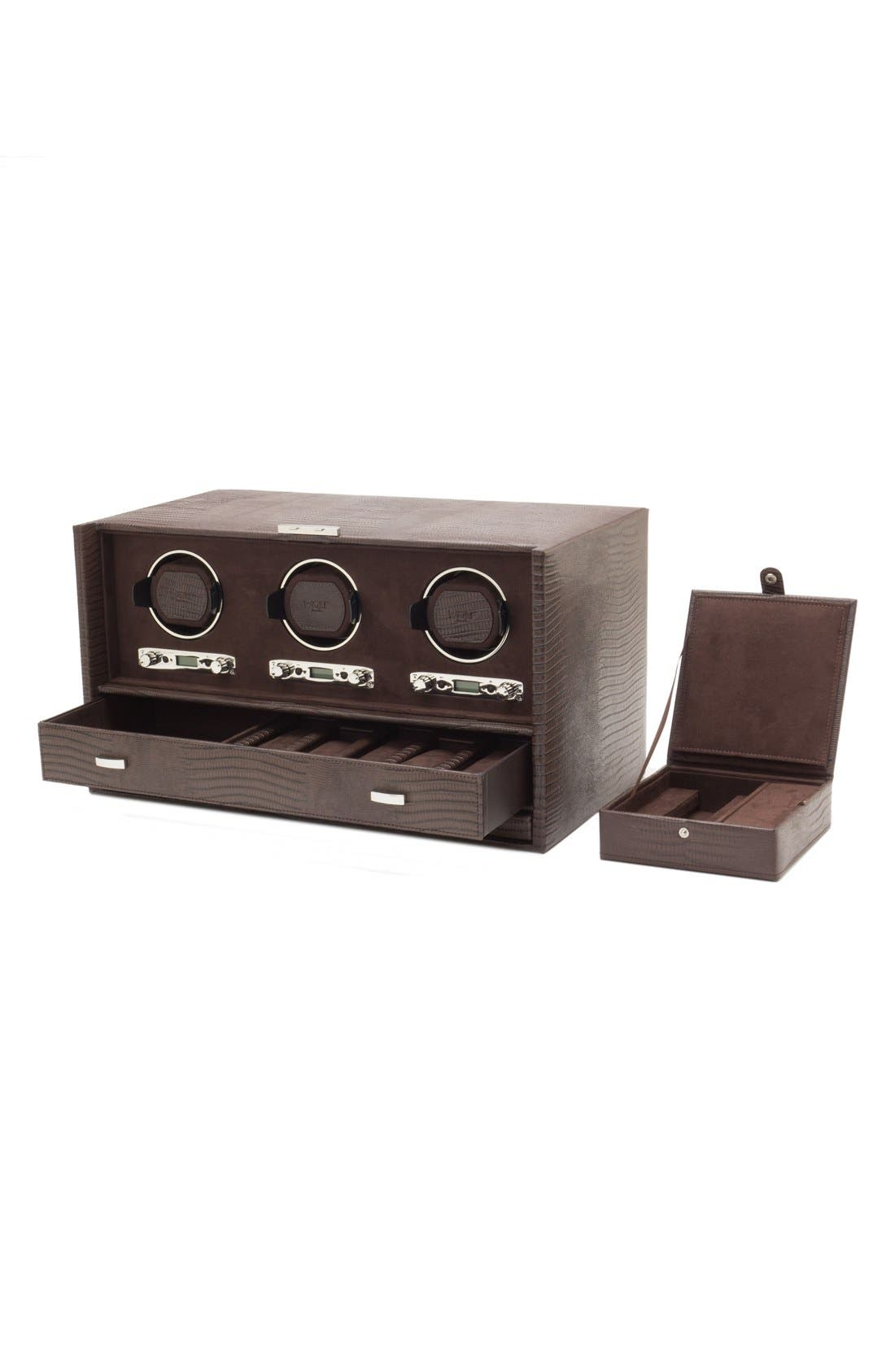 Alternate Image 2  - Wolf Blake Triple Watch Winder & Case
