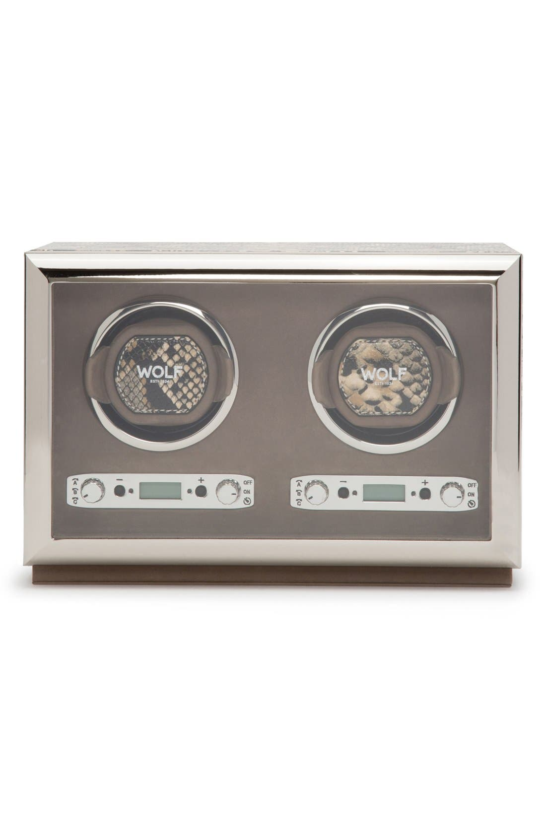Exotic Double Watch Winder,                         Main,                         color, Tan