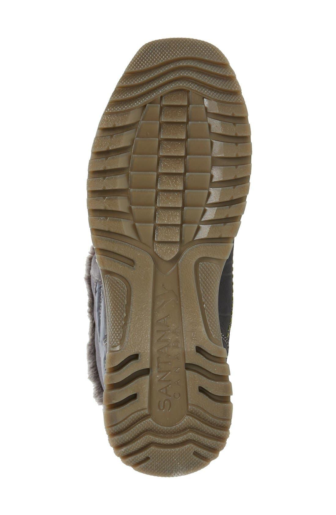Milani Waterproof Faux Fur Boot,                             Alternate thumbnail 4, color,                             Grey Leather