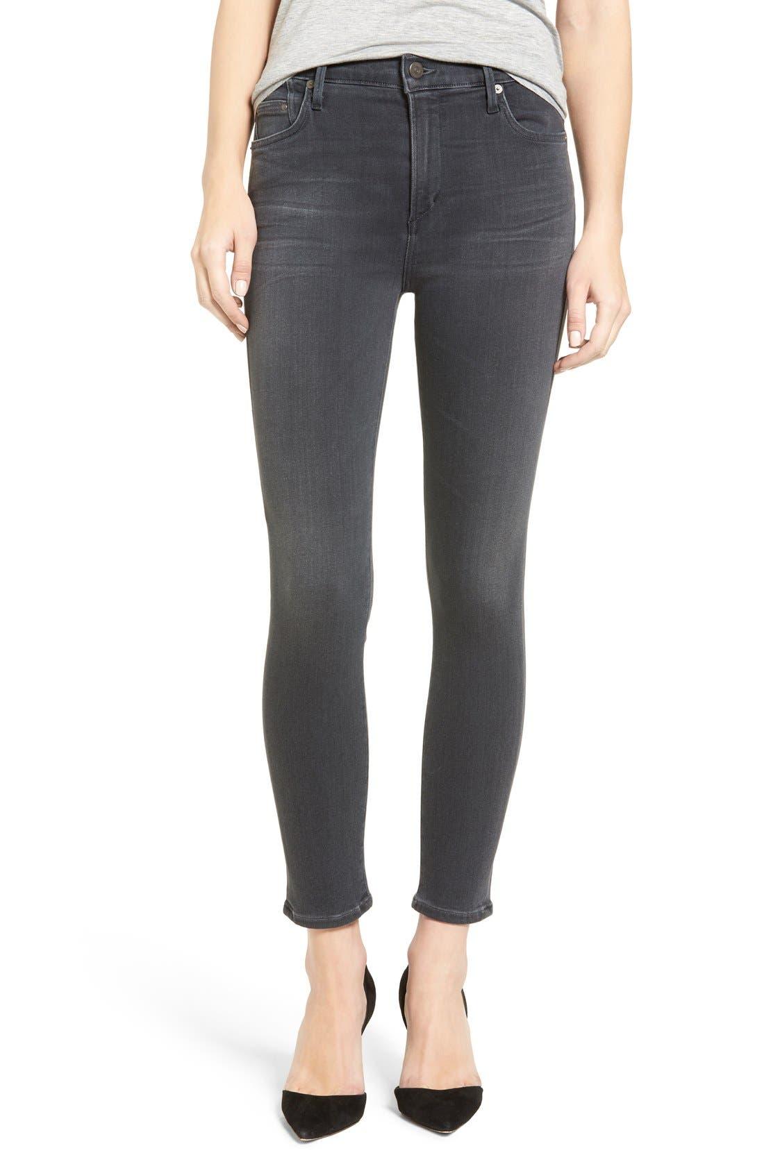 Rocket High Waist Crop Skinny Jeans,                         Main,                         color, Chateau