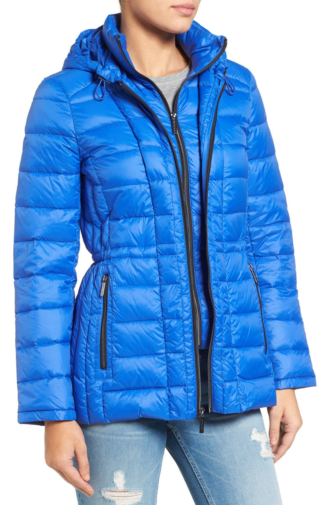 Alternate Image 4  - MICHAEL Michael Kors Quilted Down Jacket