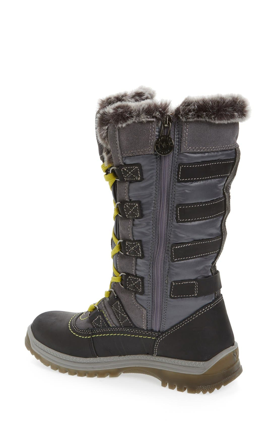 Milani Waterproof Faux Fur Boot,                             Alternate thumbnail 2, color,                             Grey Leather