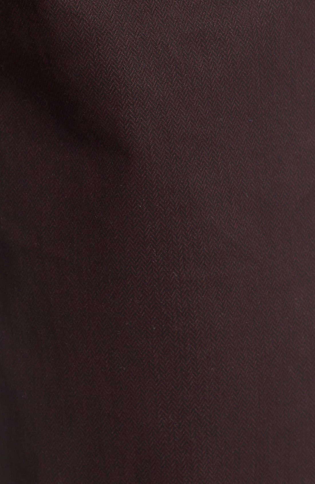 Print Slim Fit Trouser Jeans,                             Alternate thumbnail 5, color,                             Dark Red