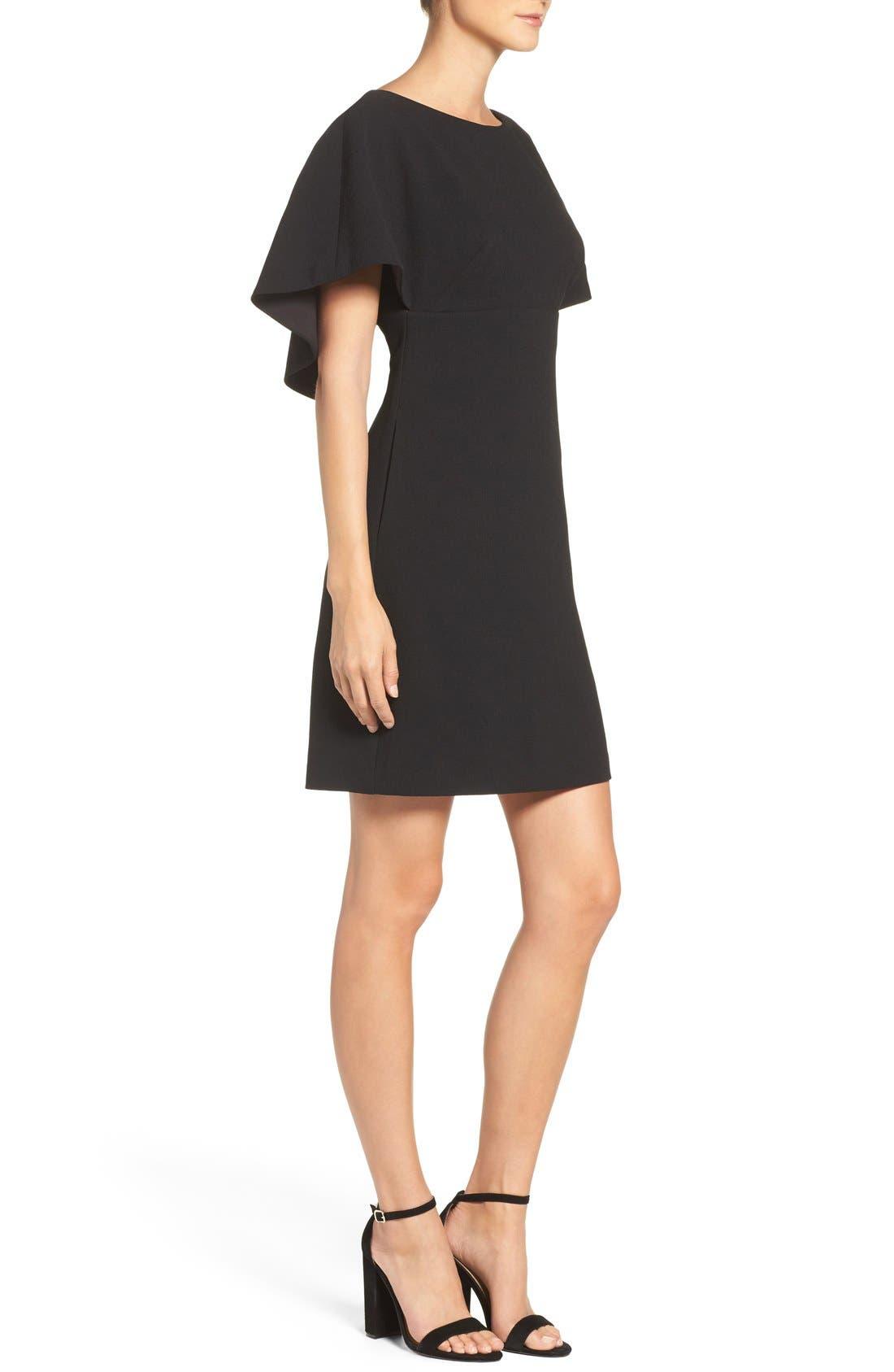 Alternate Image 3  - Eliza J Cape A-Line Dress