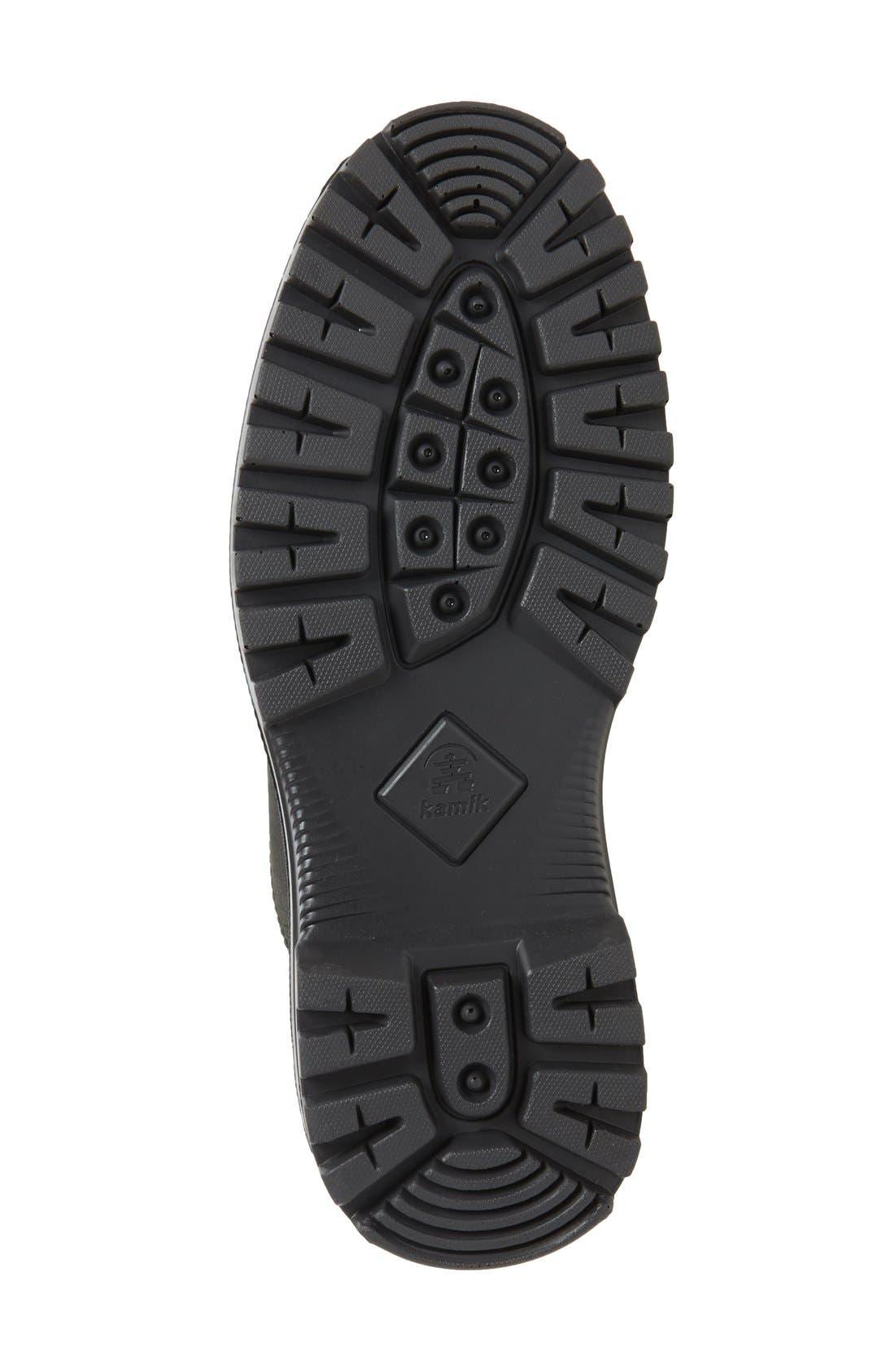 Griffon Snow Boot,                             Alternate thumbnail 4, color,                             Black Leather