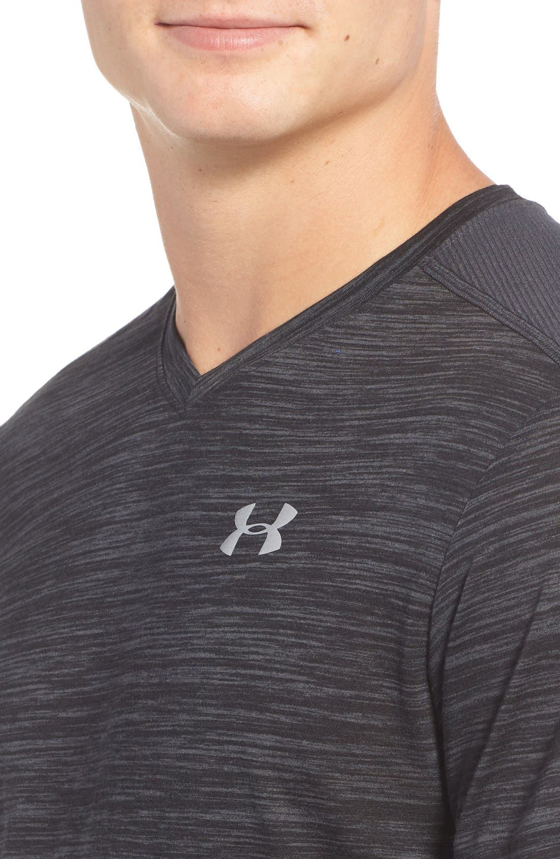 Alternate Image 4  - Under Armour 'Streaker Run' Microthread V-Neck T-Shirt