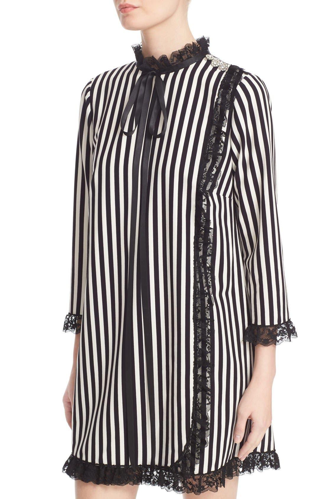 Alternate Image 6  - MARC JACOBS Stripe Crepe Babydoll Dress