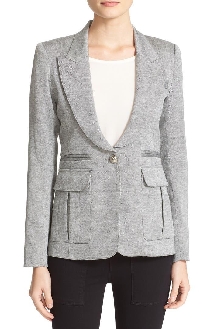 Smythe Tweed Pleat Pocket Blazer Nordstrom