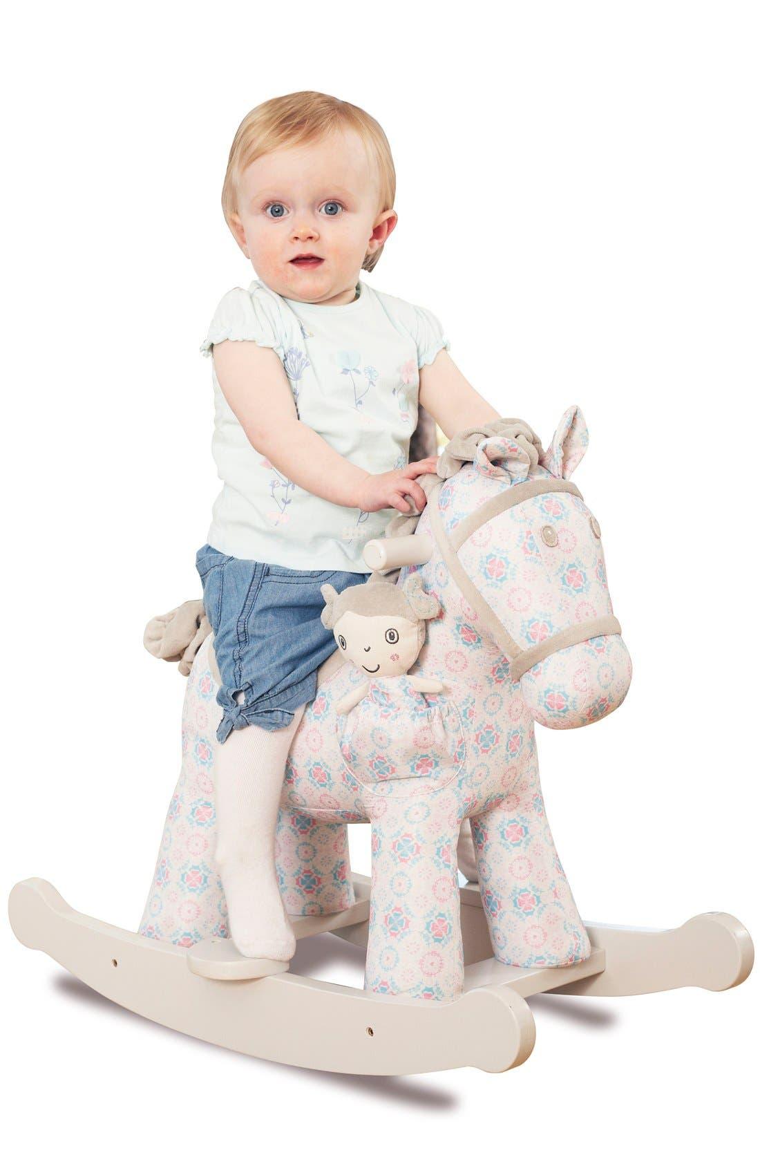 Rosie & Mae Rocking Horse & Stuffed Animal,                             Alternate thumbnail 2, color,                             Pink