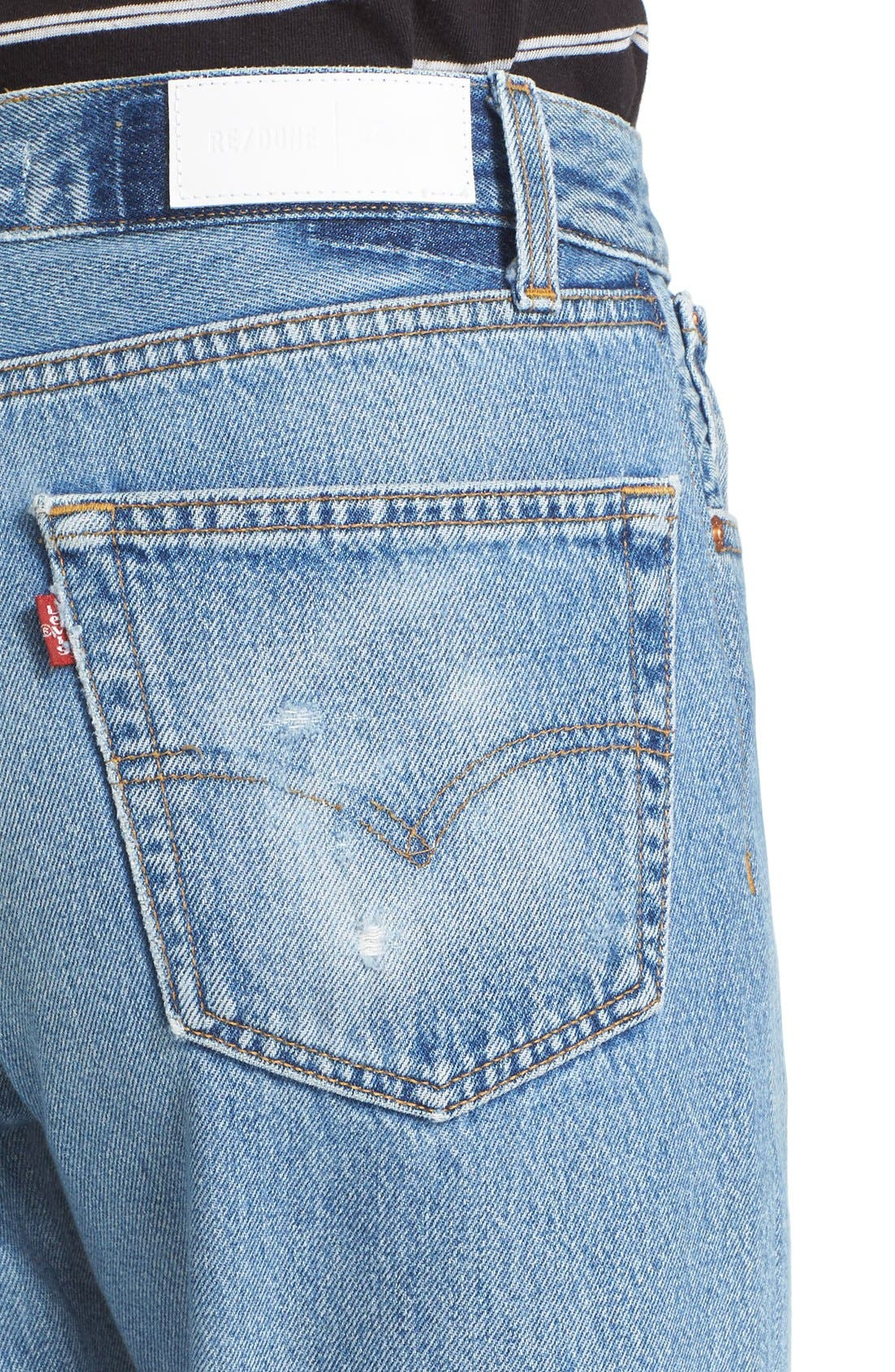 Alternate Image 5  - Re/Done Reconstructed High Waist Ankle Crop Jeans