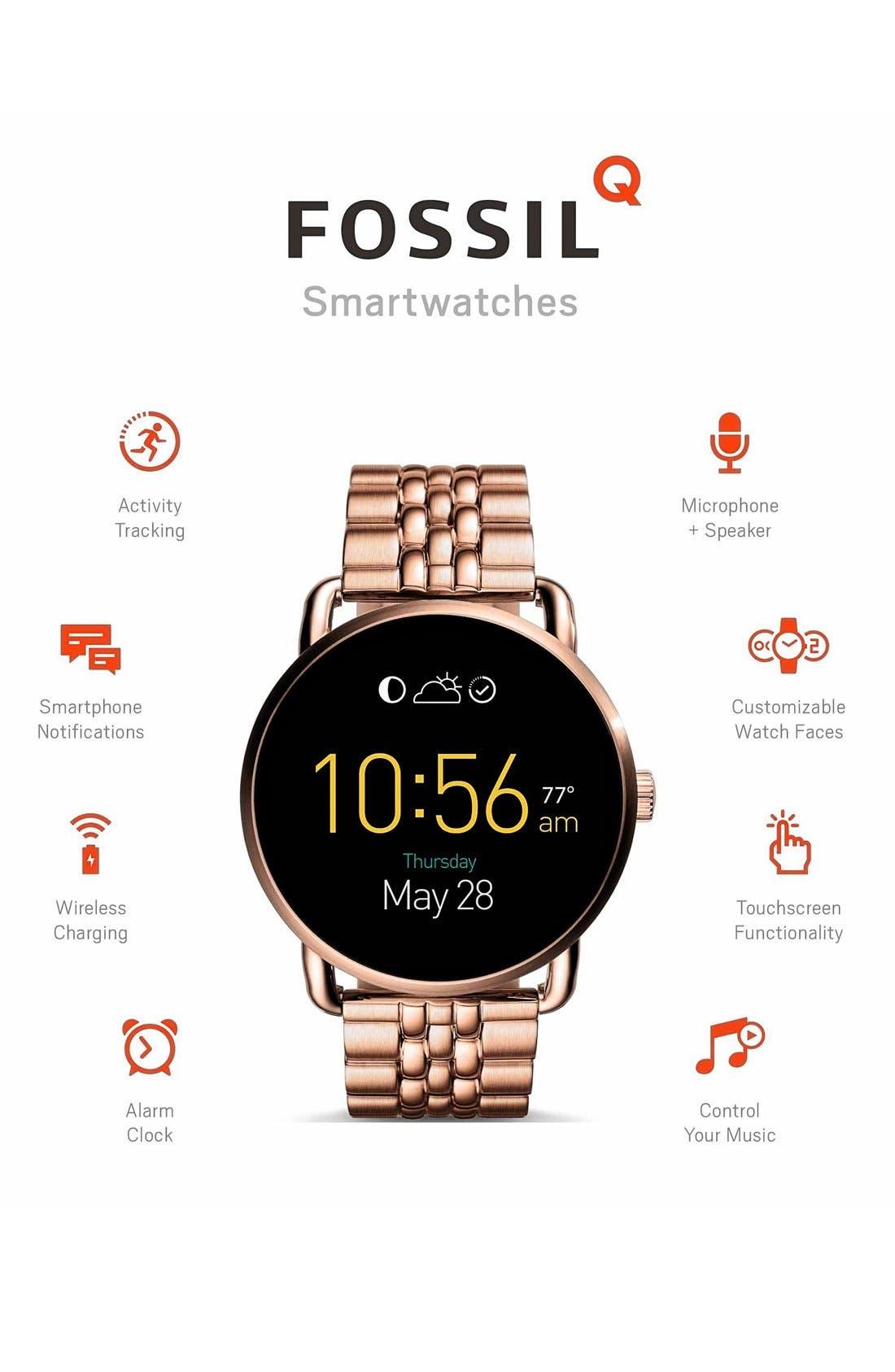 Alternate Image 7  - Fossil Q Wander Digital Smart Bracelet Watch, 45mm